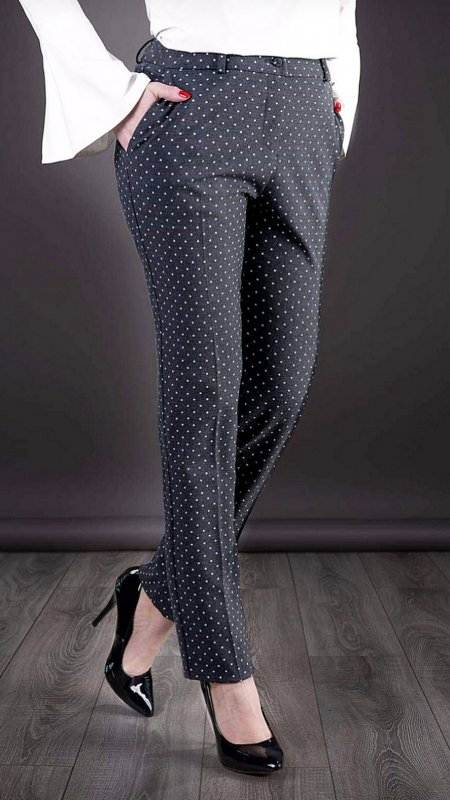 Pantaloni office gri cod D108